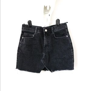 Black Zara Denim Mini Skirt